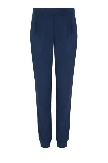 Linia basic Vito Vergelis. Granatowe dresowe spodnie z lampasem.