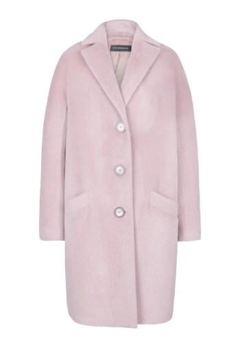 jasno rozowa kurtka z aplaki polskiej marki Vito Vergelis luksusowy płaszcz damski na zimę