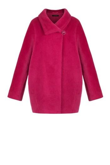 Zimowa kurtka z alpaki w kolorze fuksji marki Vito Vergelis