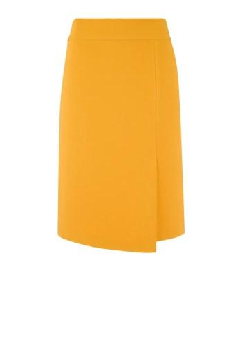 Linia biznes. Żółta spódnica polskiej marki Vito Vergelis