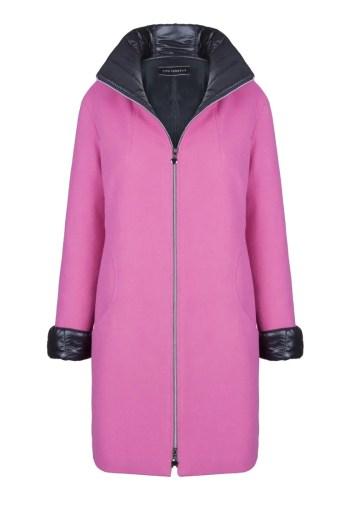 różowa kurtka wełniana z ortalionem marki Vito Vergelis
