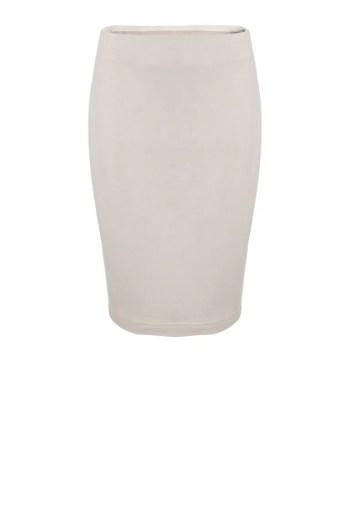 Beżowa dzianinowa spódnica na gumie Vito Vergelis