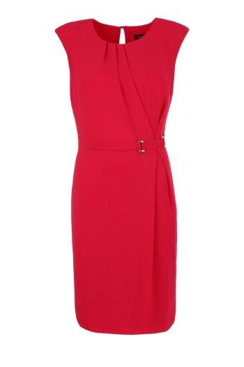 Czerwona sukienka Vito Vergelis bez rękawków, z klamrą