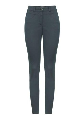 zielone spodnie damskie denim z tkaniny bawełnianej polskiej marki Vito Vergelis