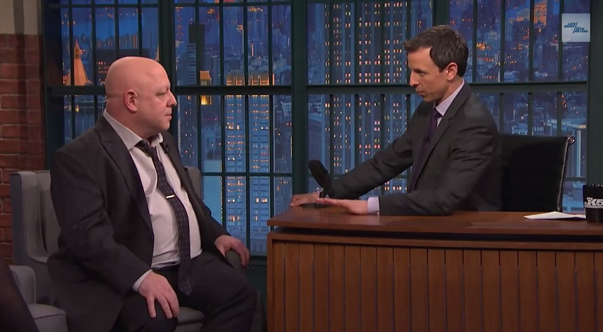 Brian Bendis no Late Night with Seth Meyers