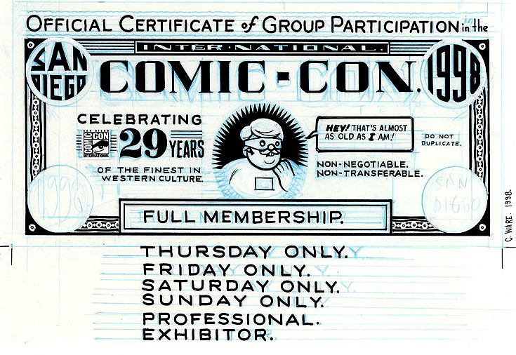 San Diego Comic Con 98, por Chris Ware