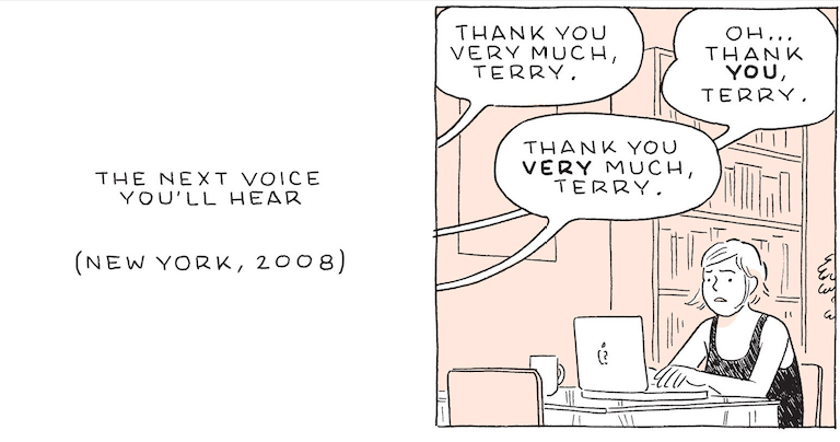 The Next Voice You'll Hear, por Adrian Tomine