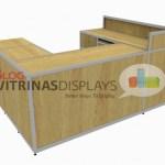 Mostrador modular con acabados personalizados.