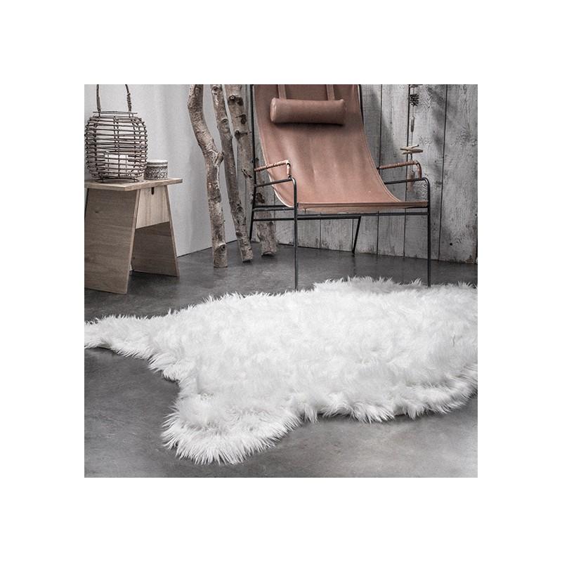 tapis fourrure blanc 120 180