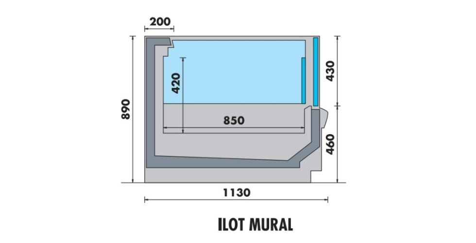 vitrine horizontale