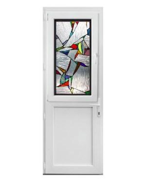 πόρτα PVC με βιτρώ SGD03