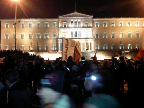 foto manifestazioni Grecia 12 febbraio 2012