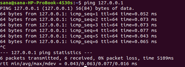 Pinging the host for availability