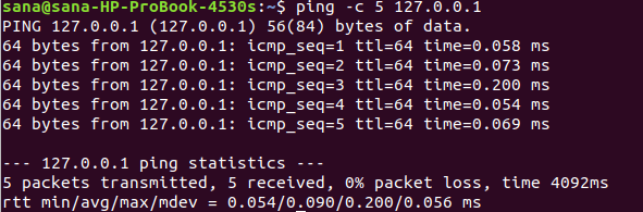 Set ping to send a desired number of packets