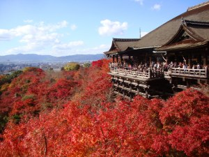 Autumn foliage of Kiyomizu-dera Temple