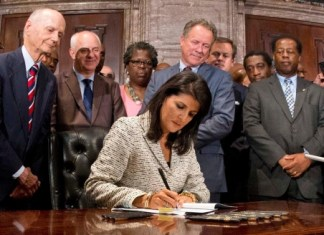 confederate-flag south carolina governor nikki haley signs the bill