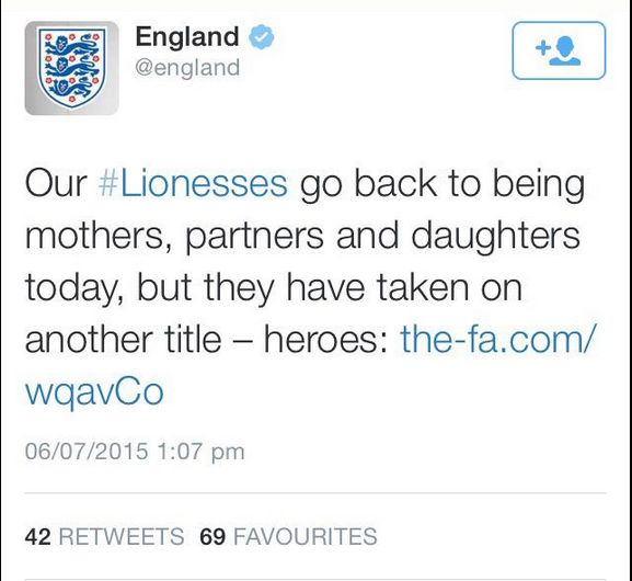 England Lionesses FA Twitter Sexism