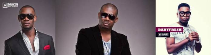 That Mavin excellence: Don Jazzy with D'Prince and Baby Fresh