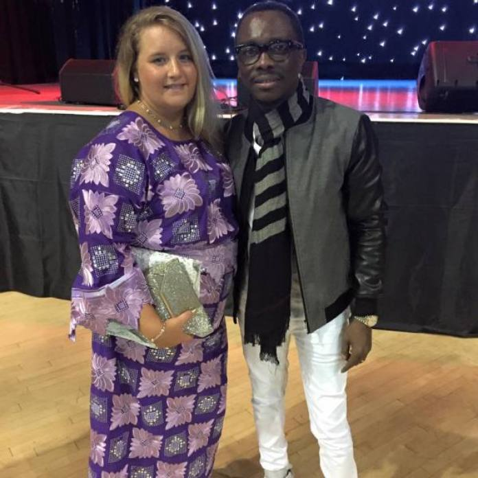 Oyinbo Prince with D'Genius. She will be performing live in London on Sunday.