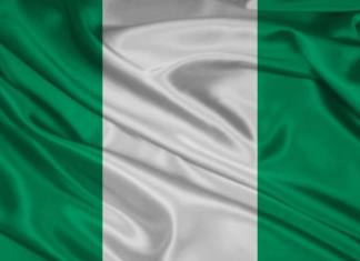 Nigerian flag background