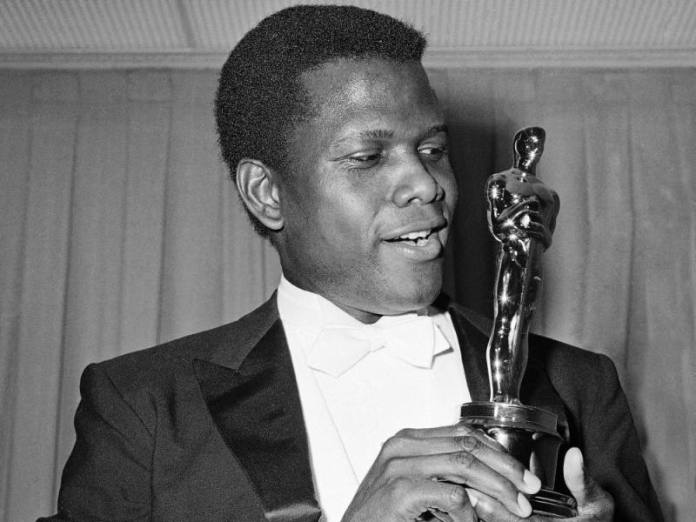 Sidney Poitier, the first black man to win an Oscar in 1963.