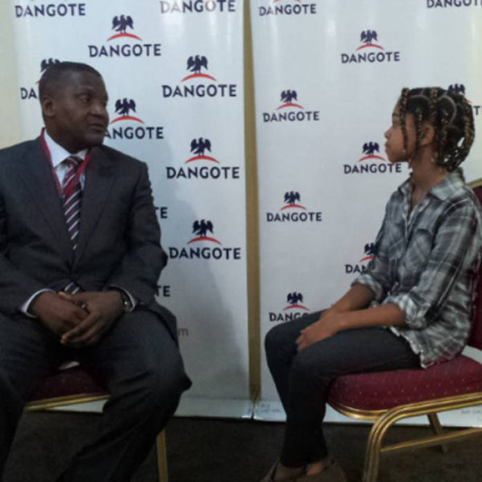 Zuriel with Aliko Dangote
