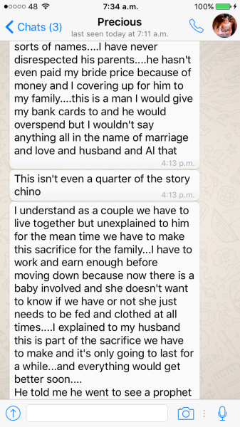 Precious Jones 2Shotz Wife Whatsapp Messages 7