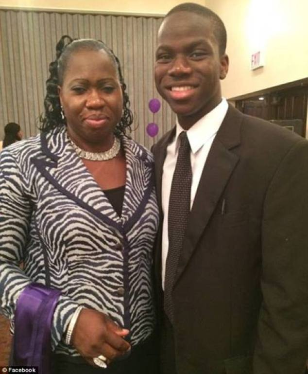 Harold Ekeh with mother - Ivy League student