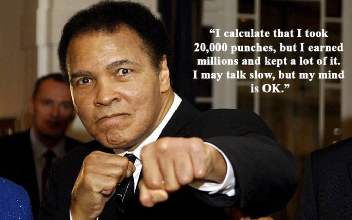 Muhammad Ali - punches and wealth