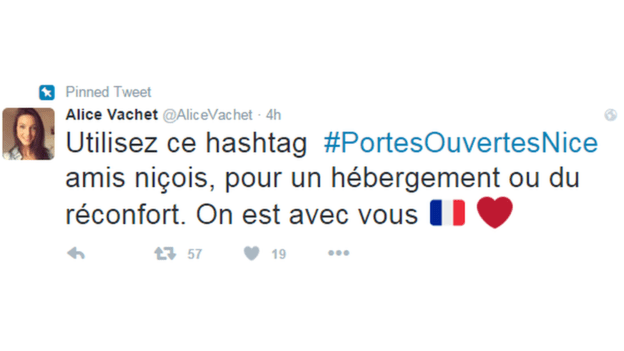 ©Twitter - @AliceVachet|France terror attack - Nice - Open doors