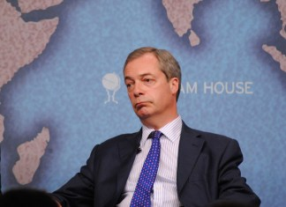 Nigel Farage Downcast