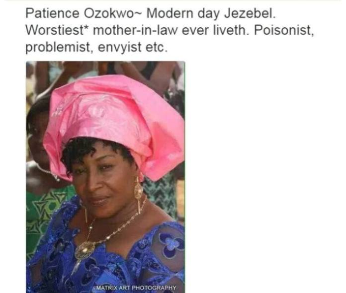 Nollywood Actors and their characteristics - Patience Ozokwor