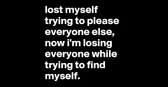 lost myself (Love your life and do it right)
