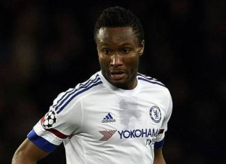 Chelsea's Nigerian midfielder John Obi Mikel controls the ball during the Champions League round of 16 first leg football match between Paris Saint-Germain (PSG) and Chelsea FC on February 16, 2016, at the Parc des Princes stadium in Paris. PSG won 2-1. / AFP / FRANCK FIFE (Photo credit should read FRANCK FIFE/AFP/Getty Images)