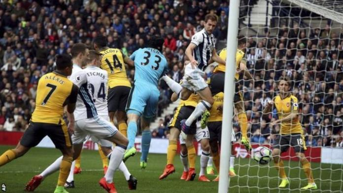 ©BBC - Dawson headed in West Brom's 13th and 14th goals from corners this season
