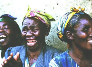 laughing african women