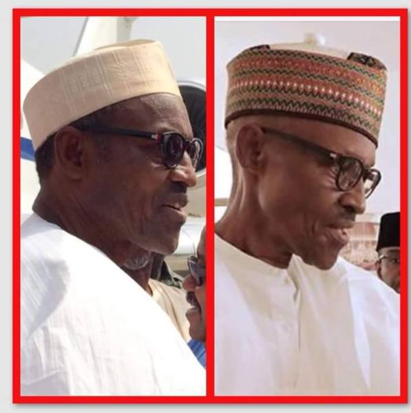Buhari health - before and after
