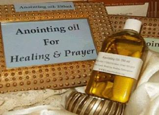Anointing oil hustle