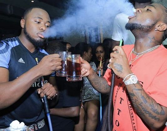 davido and friend