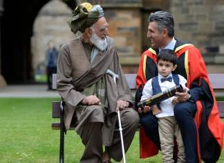 Afghan Grandfather Visa Sons Honorary Degree