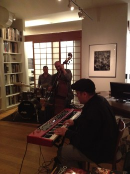 Roberto Occhipinti Trio performs at the Bulgar Gallery for Canadian Premiere screening of feature documentary on David Amram.  Celebrity Series 2012