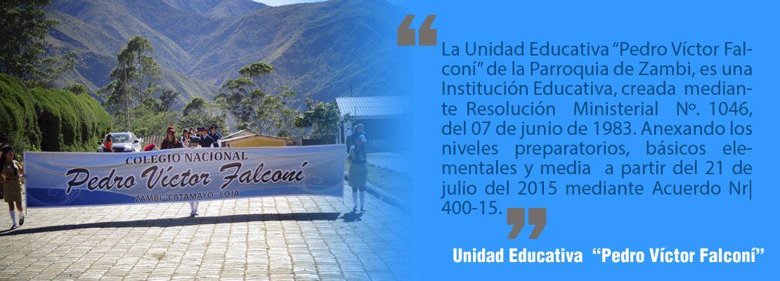 "Unidad Educativa  ""Pedro Víctor Falconí"""