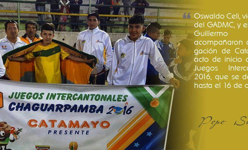En Chaguarpamba, se vive XIII Juegos Intercantonales 2016