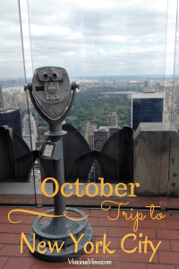 October Trip to New York City