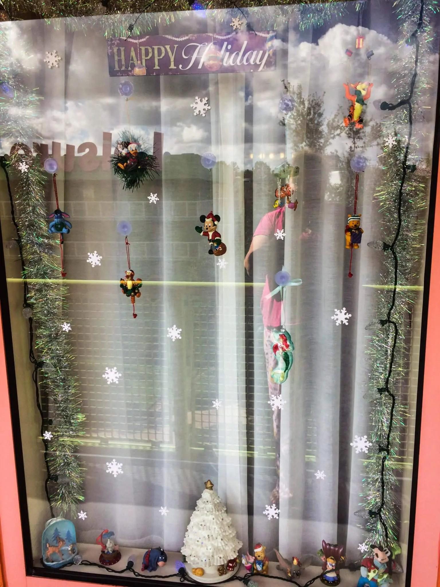Disney Resort Window Decorating Vivacious Views