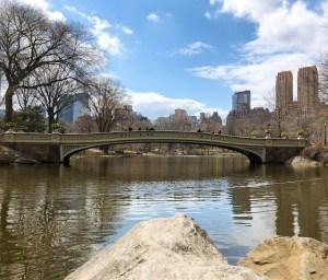 April Trip to New York City. Bow Bridge. Vivacious Views