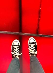 April Trip to New York City. Red Stairs. Vivacious Views