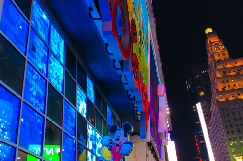 Times Square Disney Store. Vivacious Views