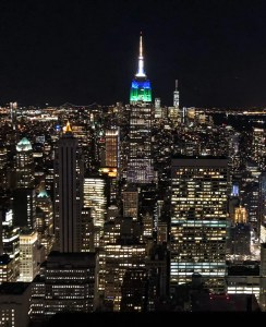 Top of the Rock. Empire State Building Night View. Vivacious Views
