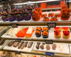 Halloween and Fall Favorites at Disney World. Confectionery Stand. Candy Apples. Vivacious Views